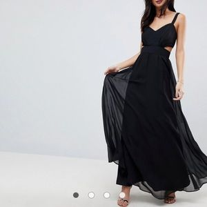 NWT Evening Maxi Dress with Side Cut Outs